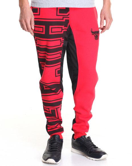 Nba, Mlb, Nfl Gear - Men Red Chicago Bulls Feelings Fleece Joggers