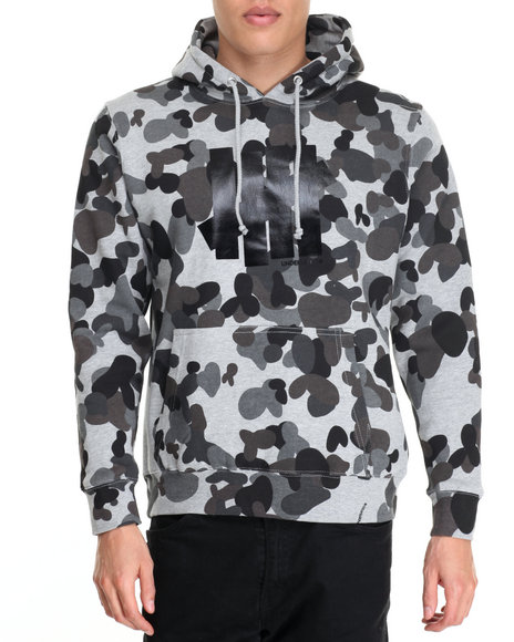 Undftd - Men Grey 5 Strike Pullover Hoodie