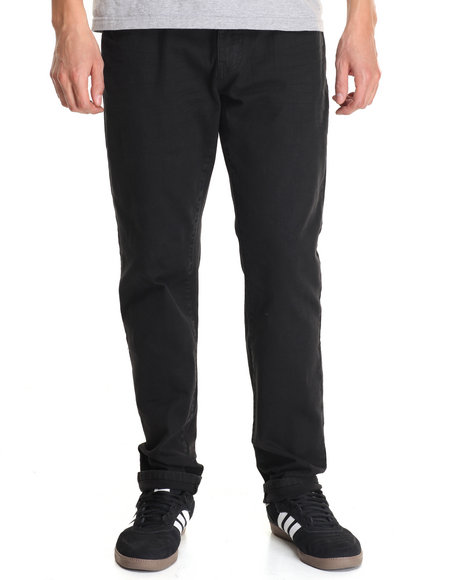 Akademiks - Men Black Rusit Slub Denim Jeans