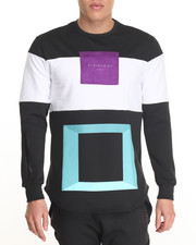 Men - Color Block Zippered L/S Premium Tee