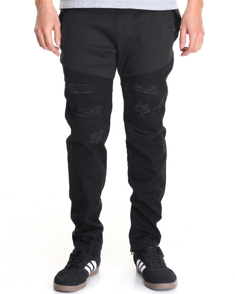 Vie + Riche - Men Black Runner 4.0 Hybrid Joggers