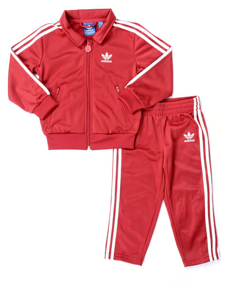 Adidas Boys Firebird Tracksuit (Infant4T) Red 9 Mo