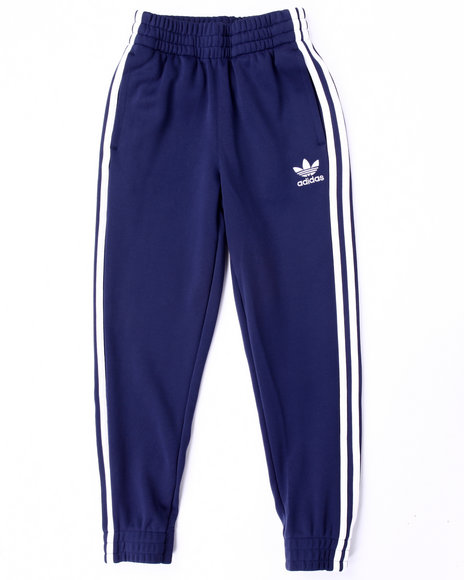 Adidas Boys Superstar Fitted Track Pants Navy XLarge