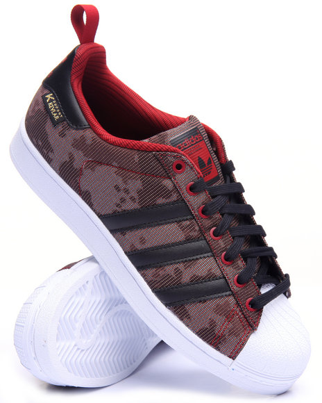 Adidas - Men Red Superstar Kevlar Lo