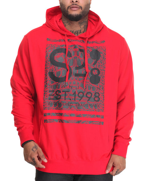 Sean John - Men Red S J Official Pullover Hoodie (B&T)