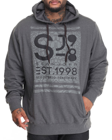 Sean John - Men Charcoal S J Official Pullover Hoodie (B&T)