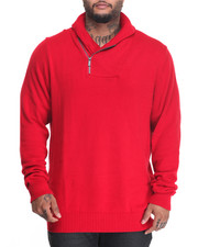 Sweatshirts & Sweaters - S J ZIPPER SHAWL COLLAR SWEATER (B&T)
