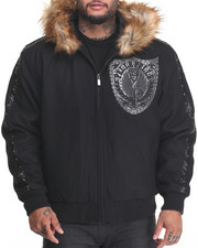 Men - Band of Brothers Faux Fur Wool jacket