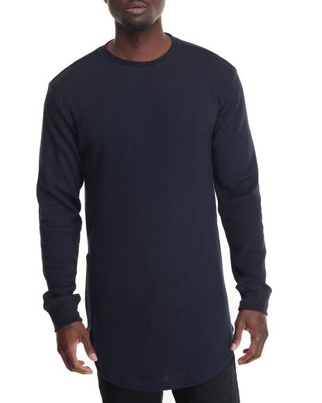 Buyers Picks - Men Navy Elongated Thermal W Side Zipper