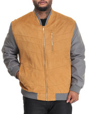 Outerwear - S J SUEDED BOMBER JACKET (B&T)