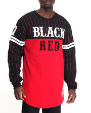 Buyers Picks - L/S  Black Red BBall Tee