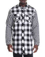 Men - Buffalo Plaid Shirt w Side Zipper