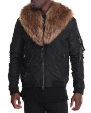 Men - Two Piece M A 1  Faux Fur - Collar Jacket