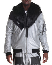 Men - Two Piece M A 1 Faux-Fur - Collar Jacket