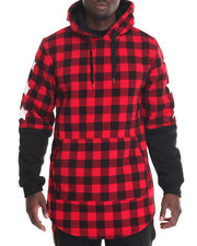Buyers Picks - Buffalo Flannel 3/4 Sleeve Hoodie
