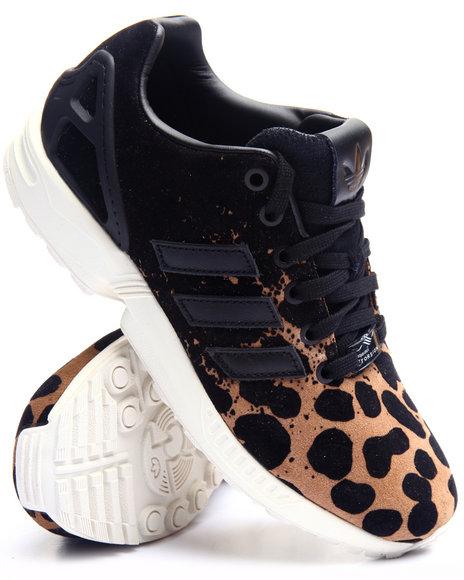 Adidas Women Zx Flux Leopard W Sneakers Animal Print 7.5