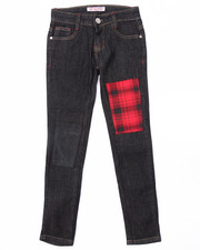 La Galleria - PLAID PATCH JEANS (7-16)
