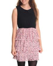 Dresses - Tiers Floral Print Dress