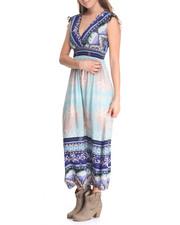 Dresses - Scroll Print Maxi