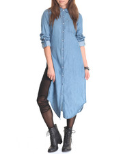 Tops - Rolled Tab Denim Duster
