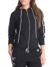 Women - Stars & Stripes Zip Front Hoody