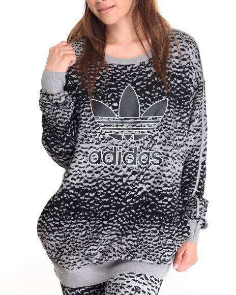 Adidas - Women Grey Helsinki Ice Knit Sweater