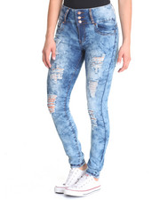 Basic Essentials - Cloud Wash Skinny Jean
