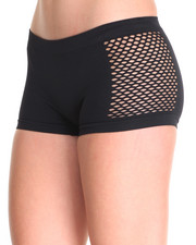 Intimates & Sleepwear - Hug Me/Love Me /Fishnet 3Pk Seamless Shorts