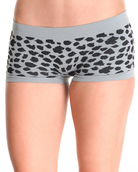 Drj Lingerie Shoppe - Women Grey Animal Textured 3Pk Seamless Shorts