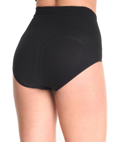 Drj Lingerie Shoppe - Women Neutral,Black 2 Pk Control Smooth Shaper High Waisted Bikinis