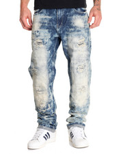 Jeans & Pants - Cloud - Wash Rip - And - Repair Denim Jeans