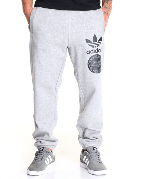 Adidas - Men Grey Graphic Sweatpant