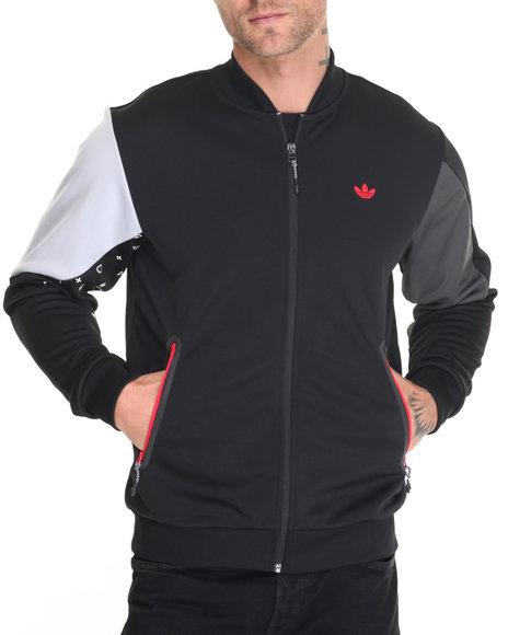Adidas Men Tech Print Superstar Track Jacket Black X-Large