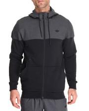 Track Jackets - Sport Luxe Woven Full - Zip Hoodie