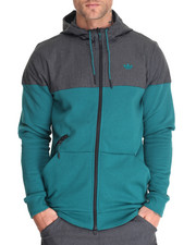 Hoodies - Sport Luxe Woven Full - Zip Hoodie
