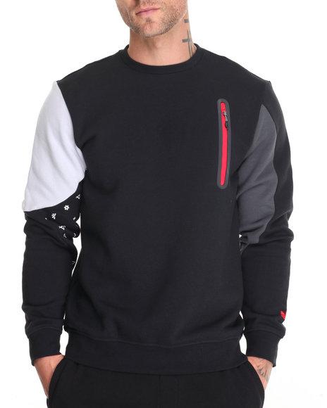 Adidas Men Winter Tech Crewneck Sweatshirt Black XLarge