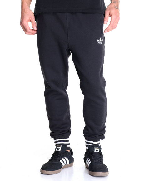 Adidas - Men Black Low Crotch Fleece Joggers
