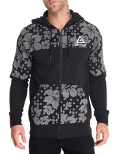 Men - Reflect Hibiscus Zip - Up Hoodie