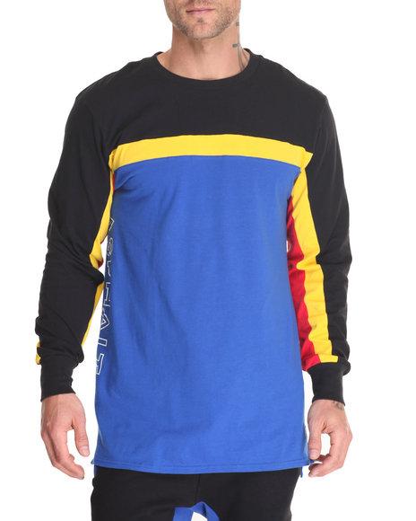 Asphalt Yacht Club - Men Black,Blue A. Sport L/S Tee