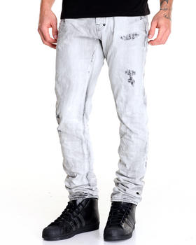 -FEATURES- - Demon Bleached Grey Jean