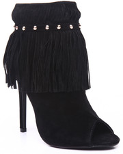 Fashion Lab - Stunning Fringe Open Toed Heel