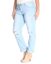 Jeans - Knee Tear Skinny Jean (plus)