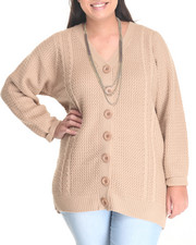Women - Cable Knit Cozy Cardigan