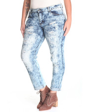 Bottoms - He Loves Me Destructed Denim Jean (plus)