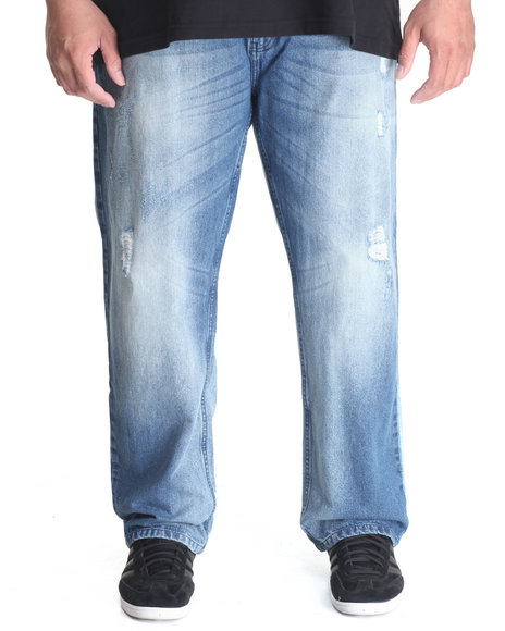 Akademiks - Men Light Wash Seminole Denim Jean (B&T)
