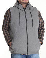 Outerwear - S J QUILTED FLEECE VEST (B&T)