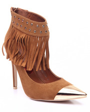 Fashion Lab - Fringe Stud Ankle Pump