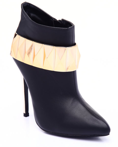 Fashion Lab - Women Black Forever Love Booties