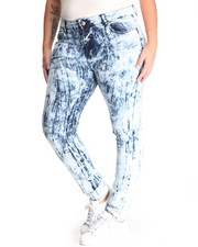 Bottoms - Splat Skinny Jean  (plus)