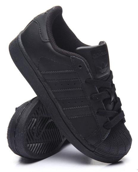 Adidas - Boys Black Superstar C Sneakers (11-3)
